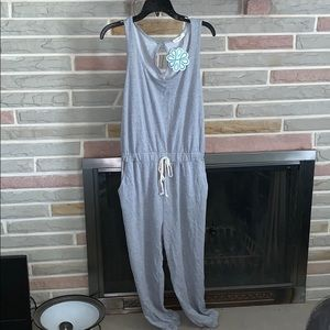 Gray  Casual Jumpsuit